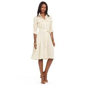Lauren Ralph Lauren Natural Linen Shirt Dress SM